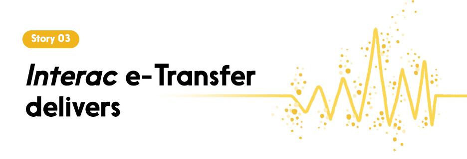 Interac e-Transfer delivers