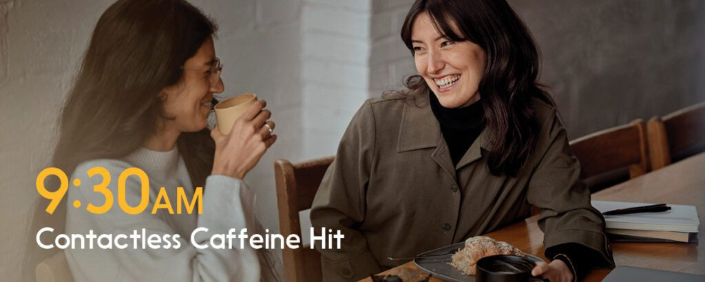 Choose Interac Debit for your curbside coffee pickup