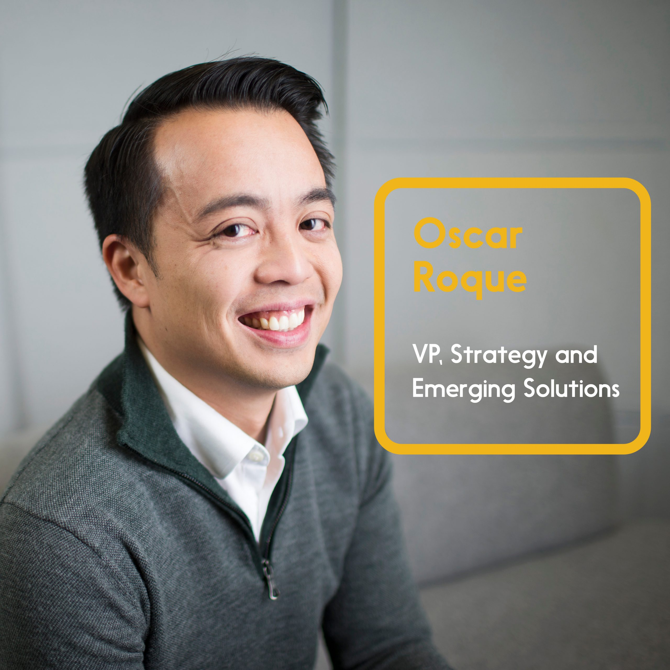 Oscar Roque, VP, Strategy and Emerging Solutions