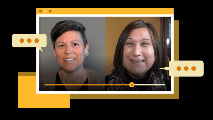 Rachel Jolicoeur, Fraud Prevention & Strategy Director, Interac, and Christine Purdon, Psychologist, U of Waterloo